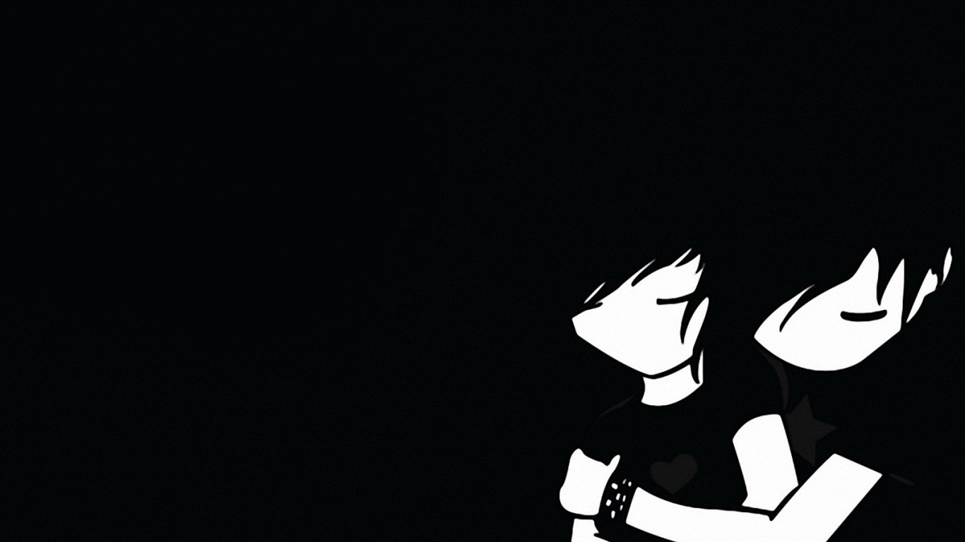 1366x768 Emo boy and girl desktop PC and Mac wallpaper 1366x768