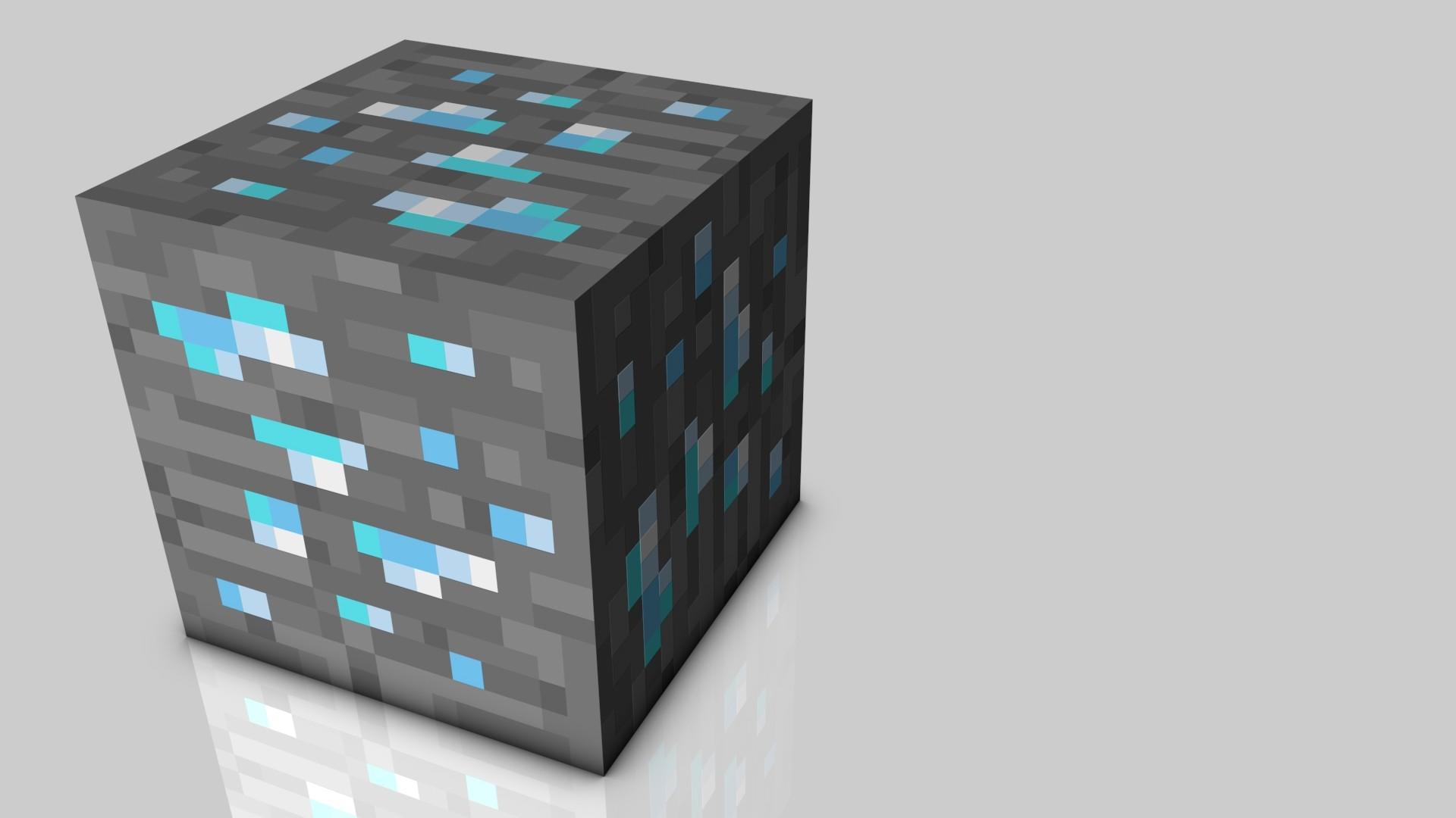 Diamond Minecraft Wallpaper 1920x1080 Diamond Minecraft Block Exone 1920x1080