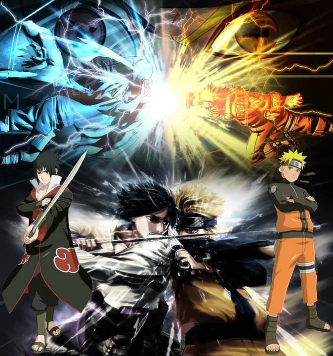 Epic Battle  Naruto vs Sasuke by BlazingFlow 674x720