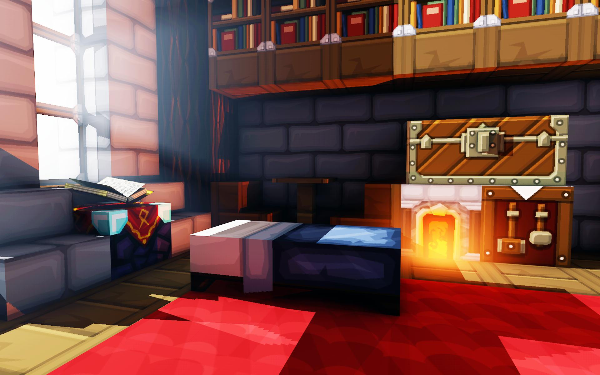 Room wallpaper Minecraft 1920x1200
