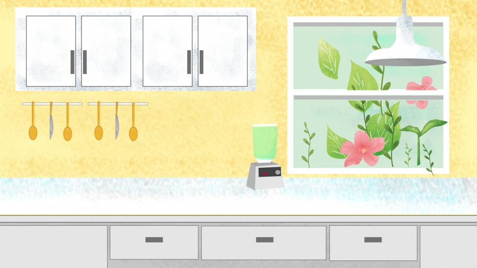 Simple Home Kitchen Cupboard Background Material Kitchen Home 960x540