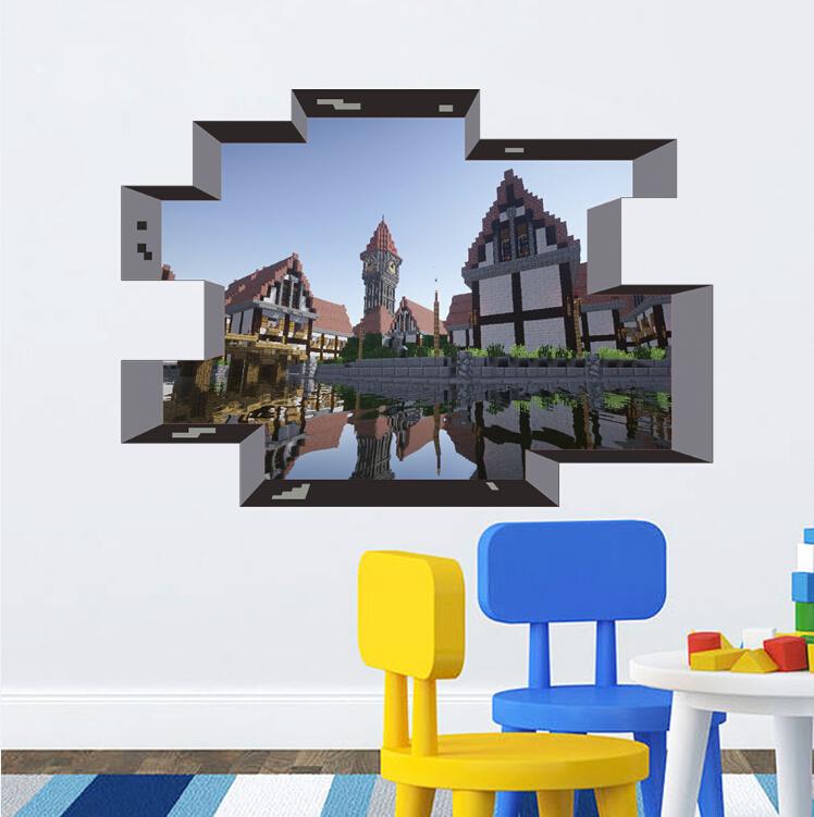Newest Minecraft Wall Stickers Wallpaper Kids Room Decal Minecraft 748x751