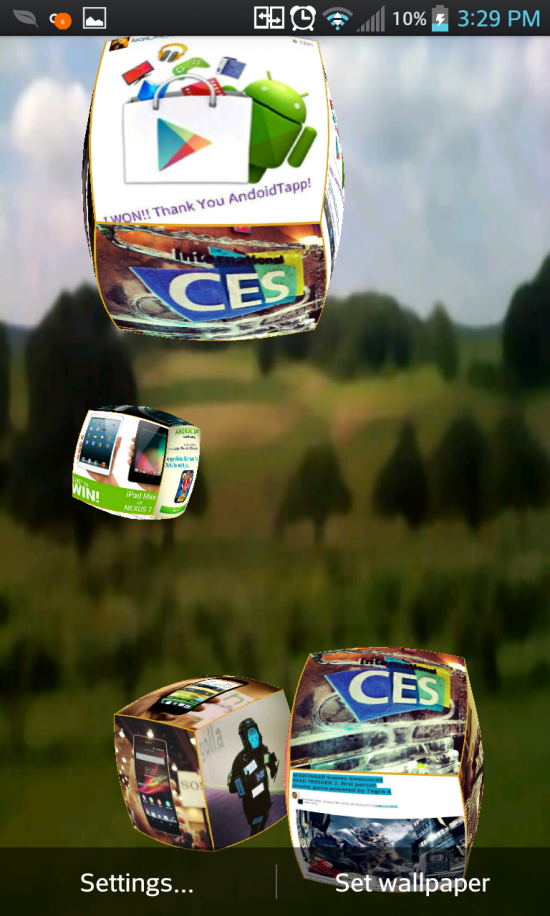 3D Pictures Live Wallpaper customize your Android background with 550x916