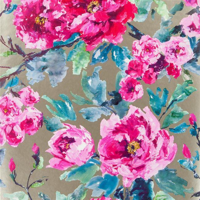 shanghai garden   fuchsia wallpaper Designers Guild 654x654