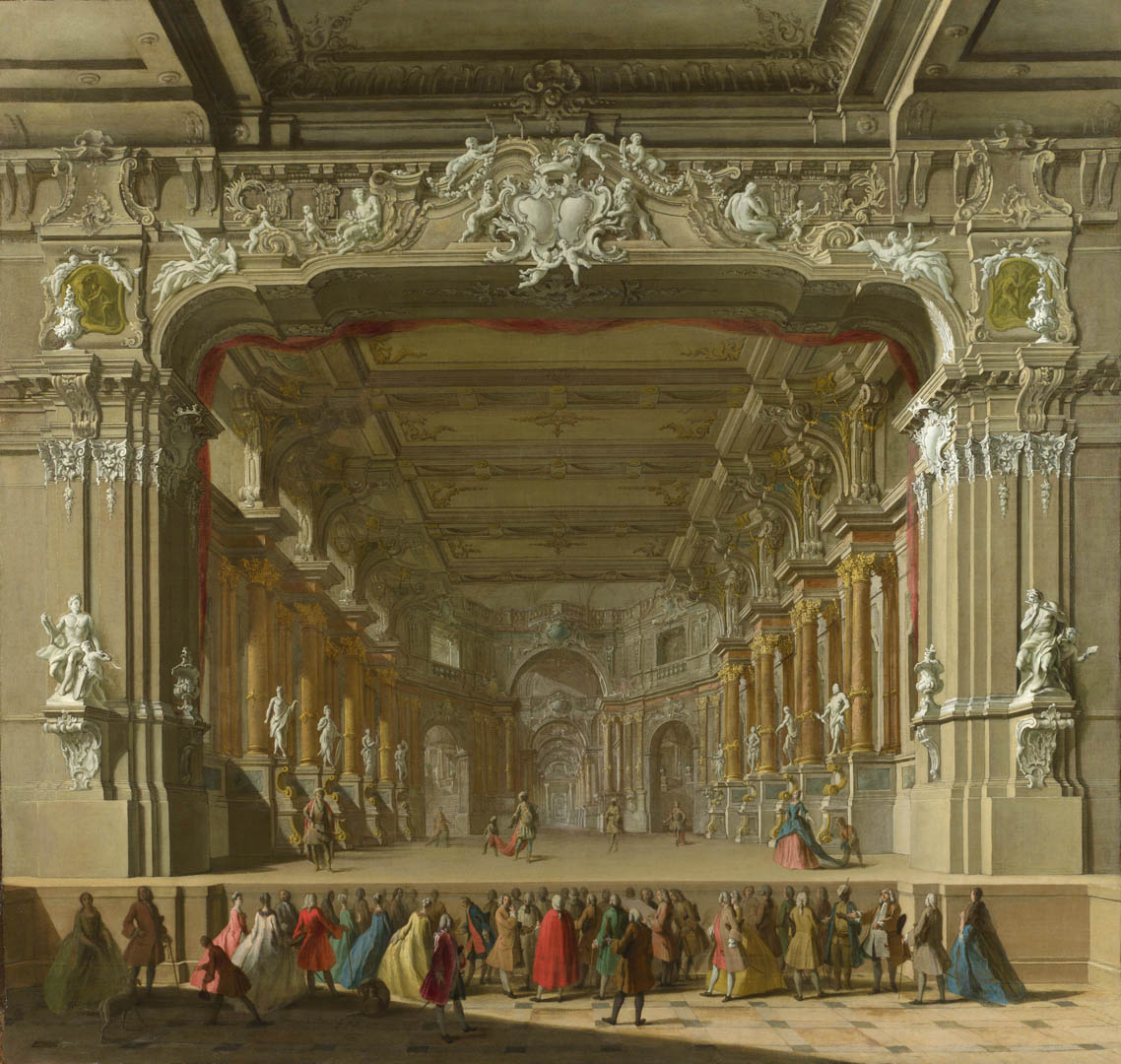 Of A Theatre Italian Renaissance Northern Art Wallpaper 1138x1080