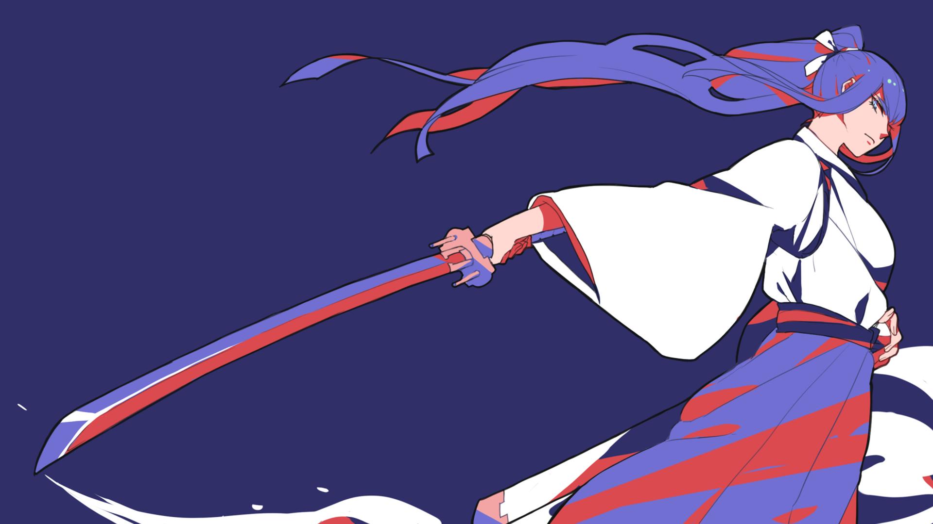 kiryuuin kiryuin satsuki japanese clothes katana kill la kill anime 1920x1080