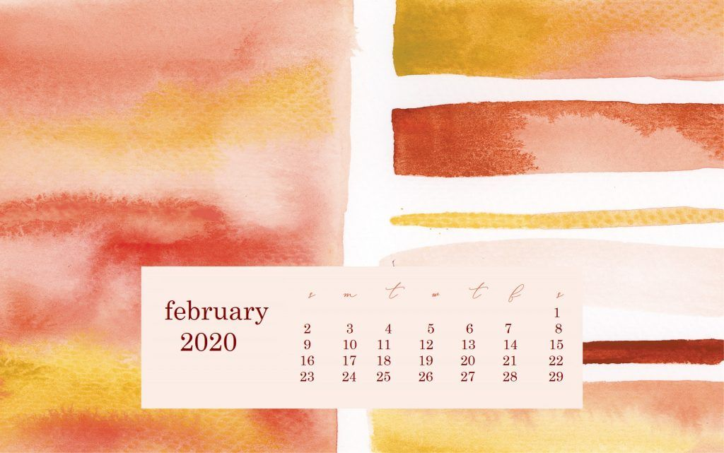 February 2020 Desktop Wallpaper calendar Desktop wallpaper 1024x641