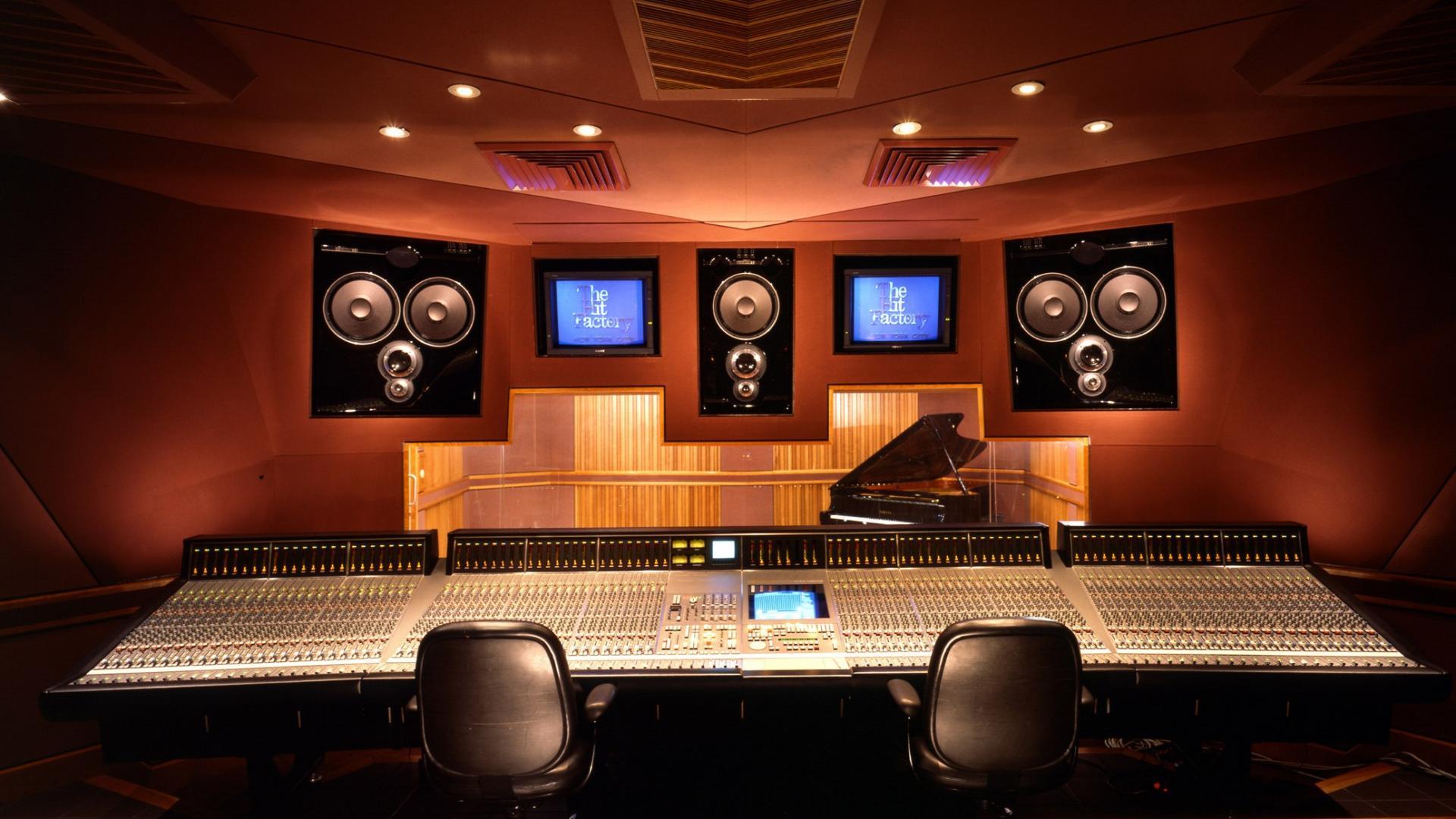 cool recording studio wallpapers wallpapersafari. Black Bedroom Furniture Sets. Home Design Ideas