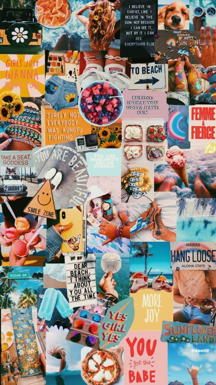 Aesthetic Collage Wallpapers 750x1334