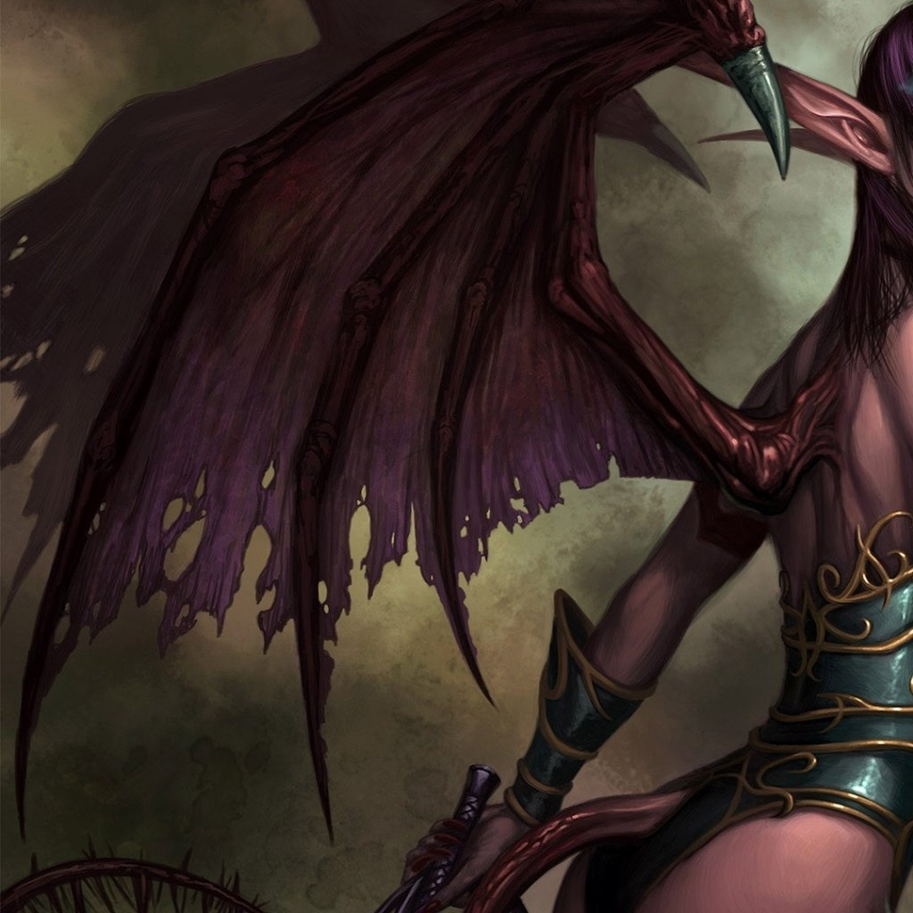 Succubus painted for WoW TCG, a few years ago. Acrylics
