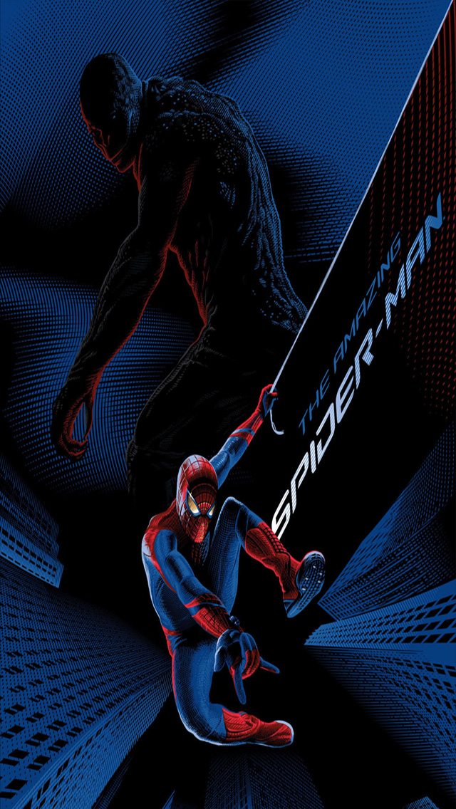 spider man blue background The Amazing Spider Man iPhone 5 Wallpapers 640x1136