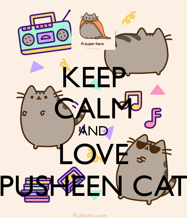Pusheen The Cat Ipad Wallpaper Keep calm and love pusheen cat 600x700