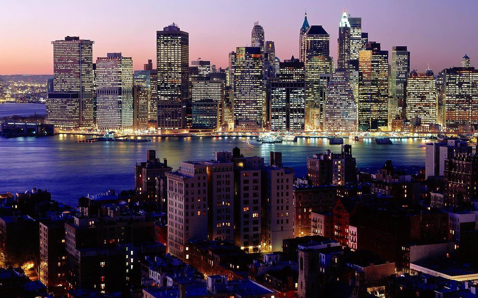 HD wallpaper Twilight Sky New York City New York Desktop Background 1600x1000