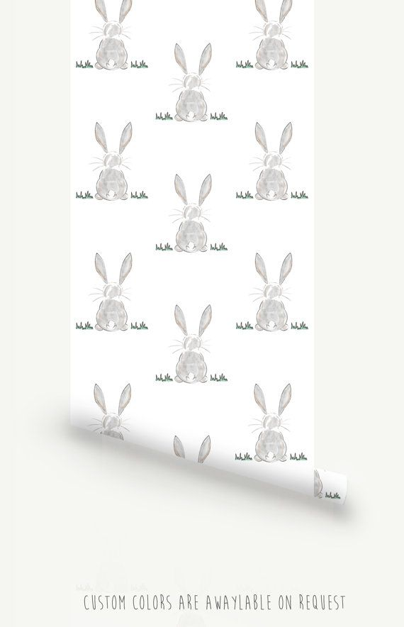 Bunny Butt Removable Wallpaper Traditional or Self adhesive 570x884