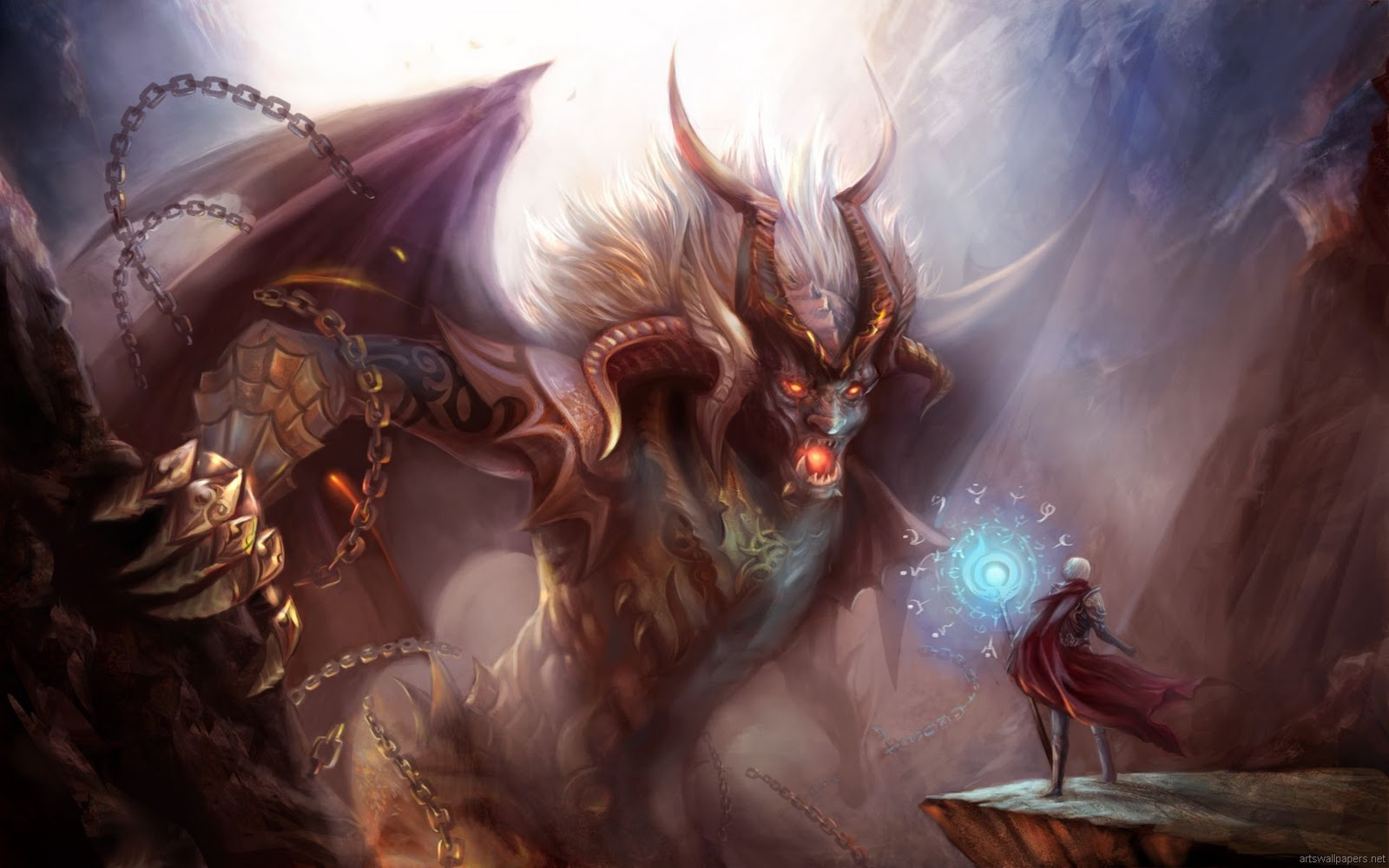 God Vs Devil Wallpaper Devil vs demon - viewing