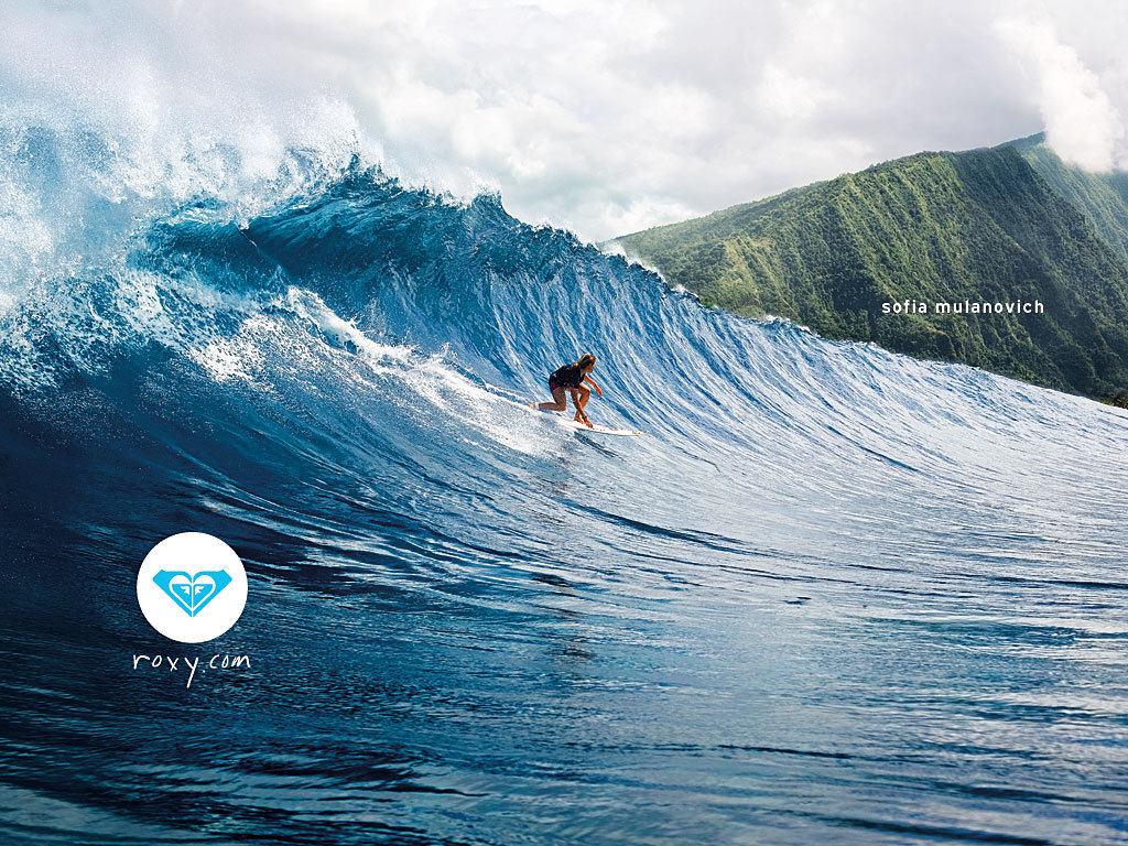 Roxy surfing   Roxy Wallpaper 921872 1024x768