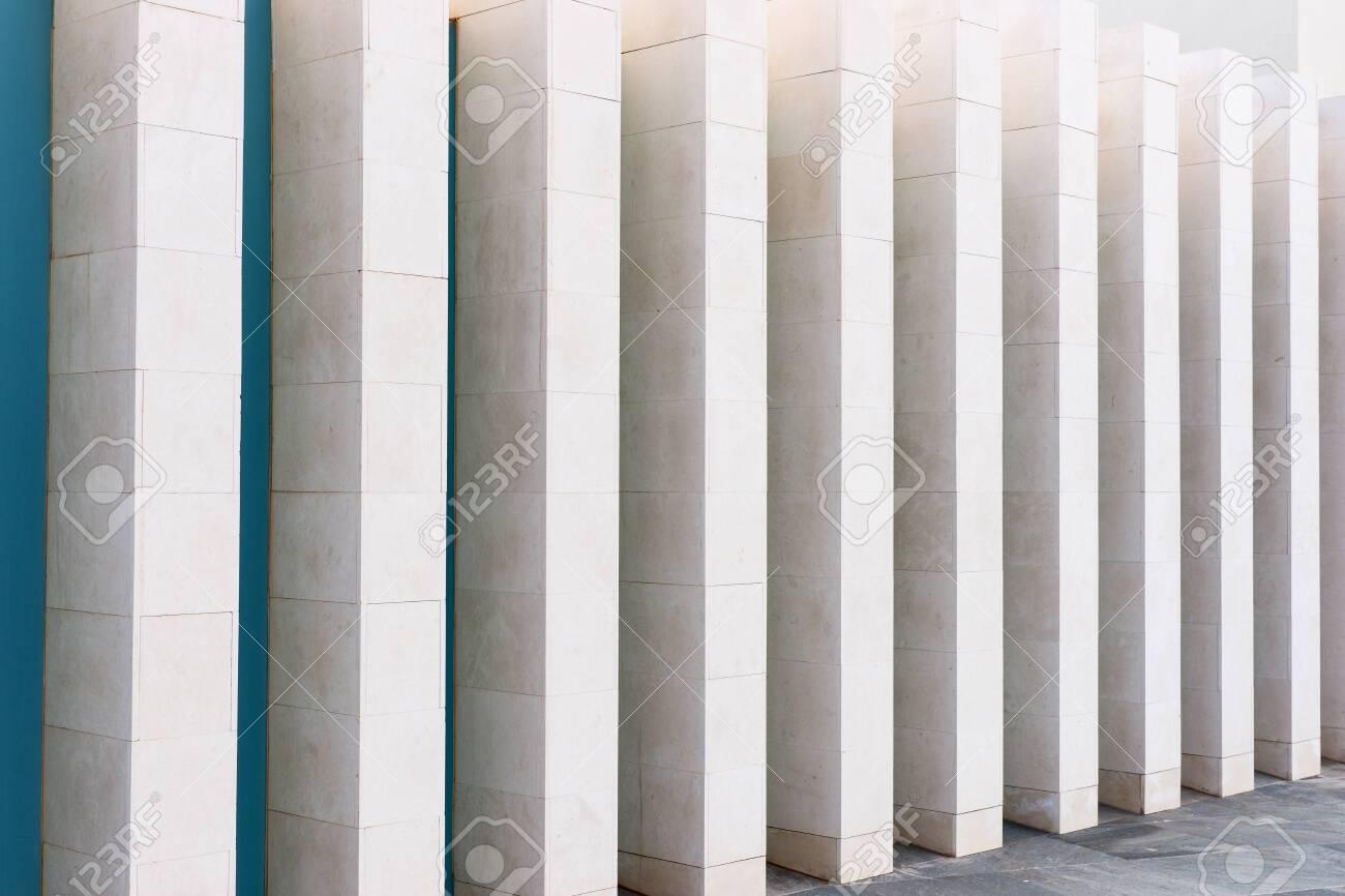 Modern Architecture Angular Light Columns As Background Stock 1300x866