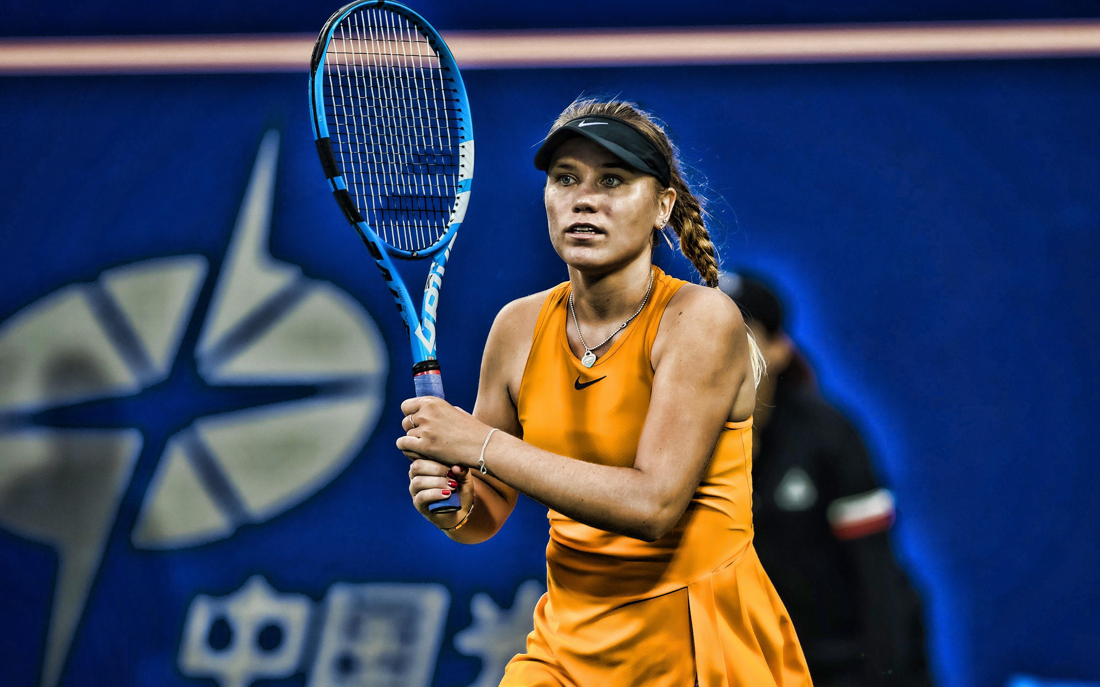 Download wallpapers Sofia Kenin 4k American tennis players WTA 3840x2400