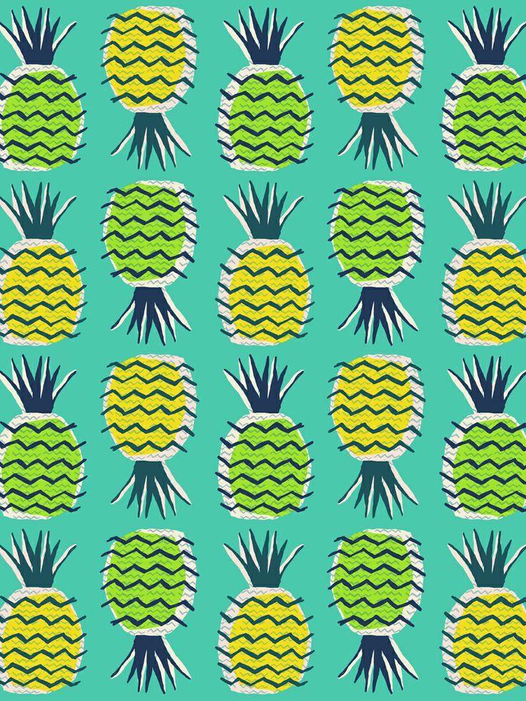 [47+] Pineapple Print Wallpaper on WallpaperSafari