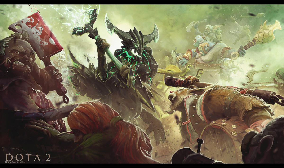 Hey rDota2 I made a battle scene for you Let me know what you 1200x711