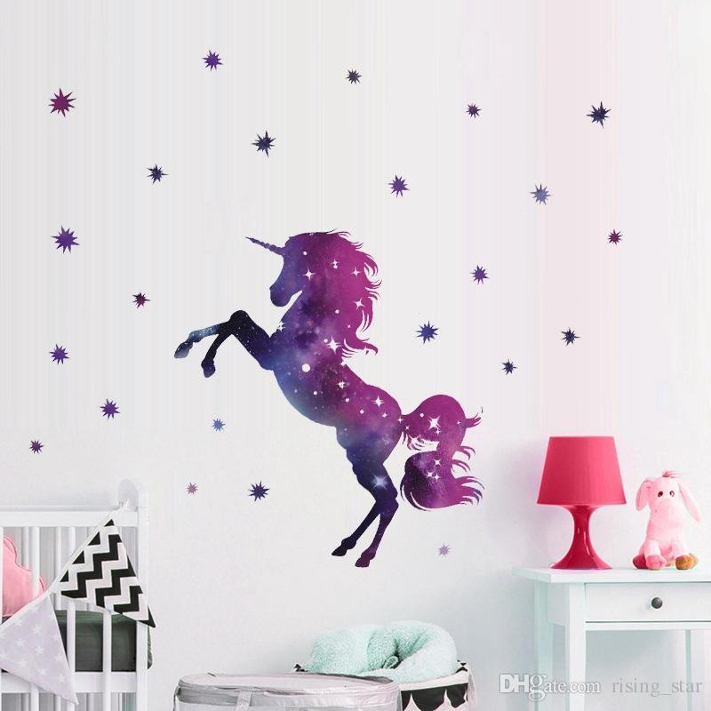 2019 Fancy Unicorn Wallpaper Animal Cartoon Diy Kids Bedroom 800x800