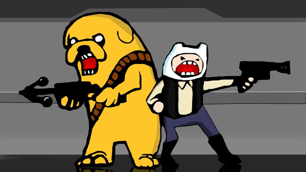 Jake and Finn star wars by SOLOandtheWookie 1024x576
