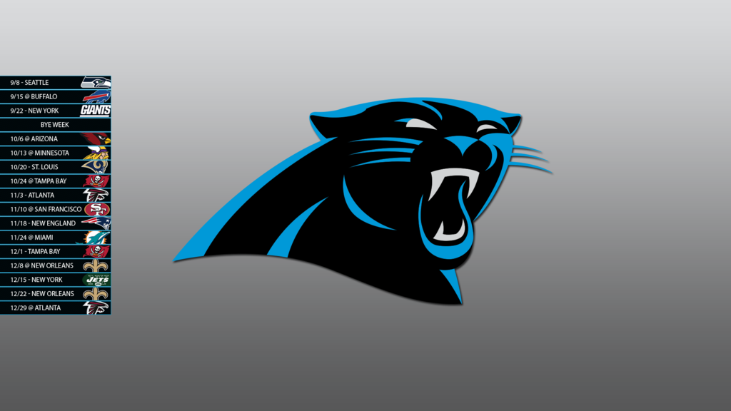Carolina Panthers 2013 Schedule Wallpaper by SevenwithaT 1024x576