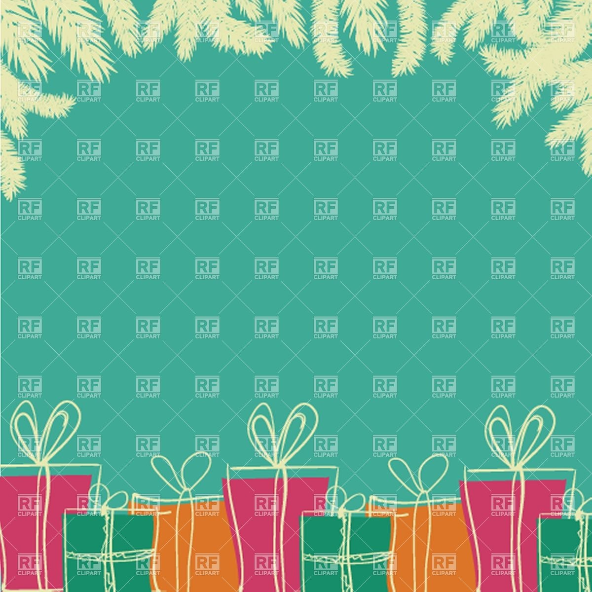 Christmas background with a pile of colorful gift boxes Vector 1200x1200