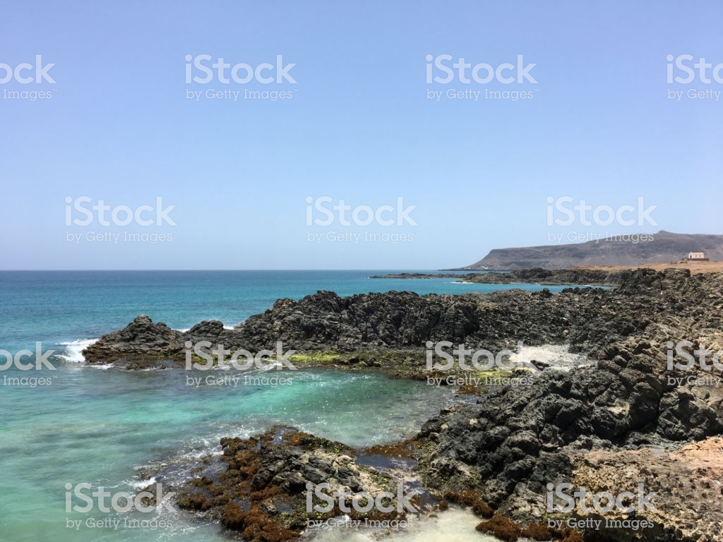 Boa Vista Cape Verde Rocks And Church In The Background Stock 1024x768
