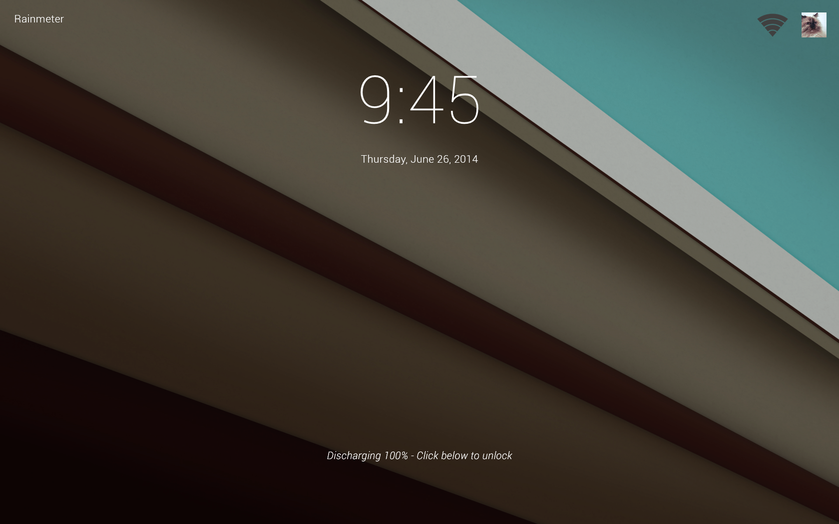 WIP] Android L for Rainmeter   Lock Screen by ScoobSTi 1680x1050
