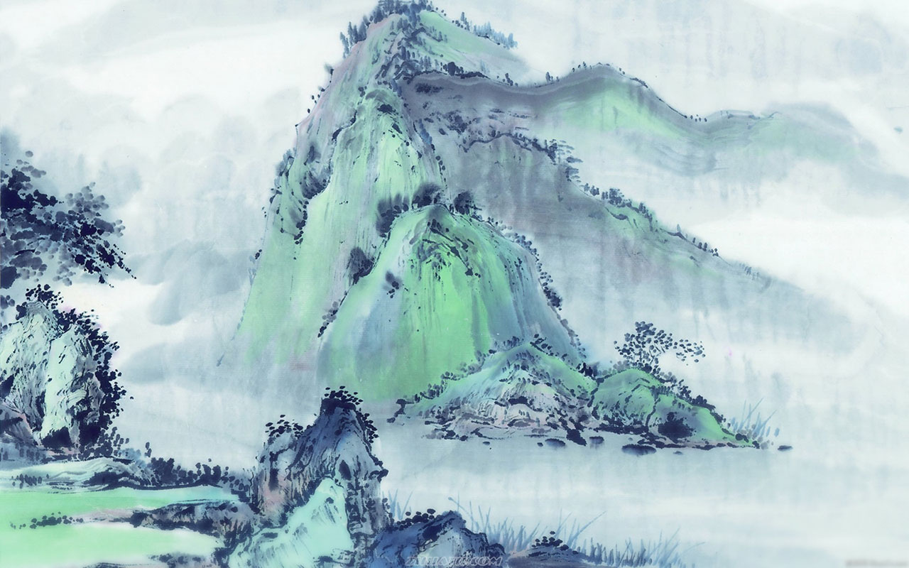 Chinese style landscapes ink wallpaper 8 Paintings Wallpapers 1280x800