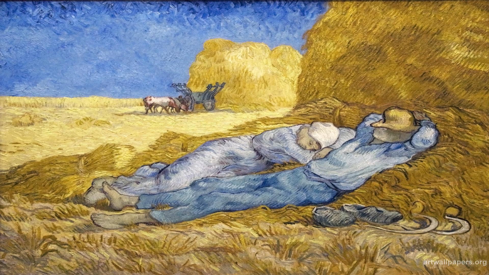 Vincent Van Gogh Noon Rest From Work wallpaper 137276
