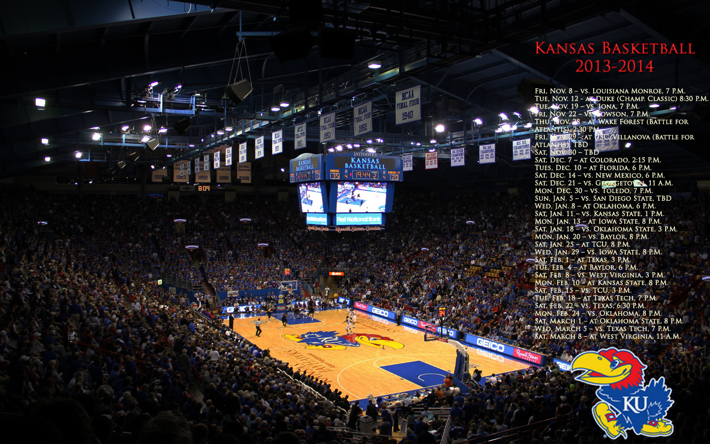 Go Back Images For Kansas Jayhawks Basketball Wallpaper 1440x900