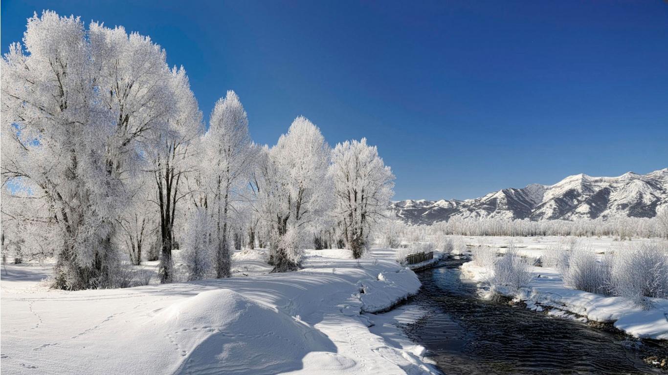 Обои 1366х768 Hd Зима