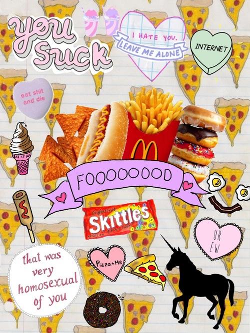 Delicious Food Tumblr Collage wwwpixsharkcom   Images 500x667