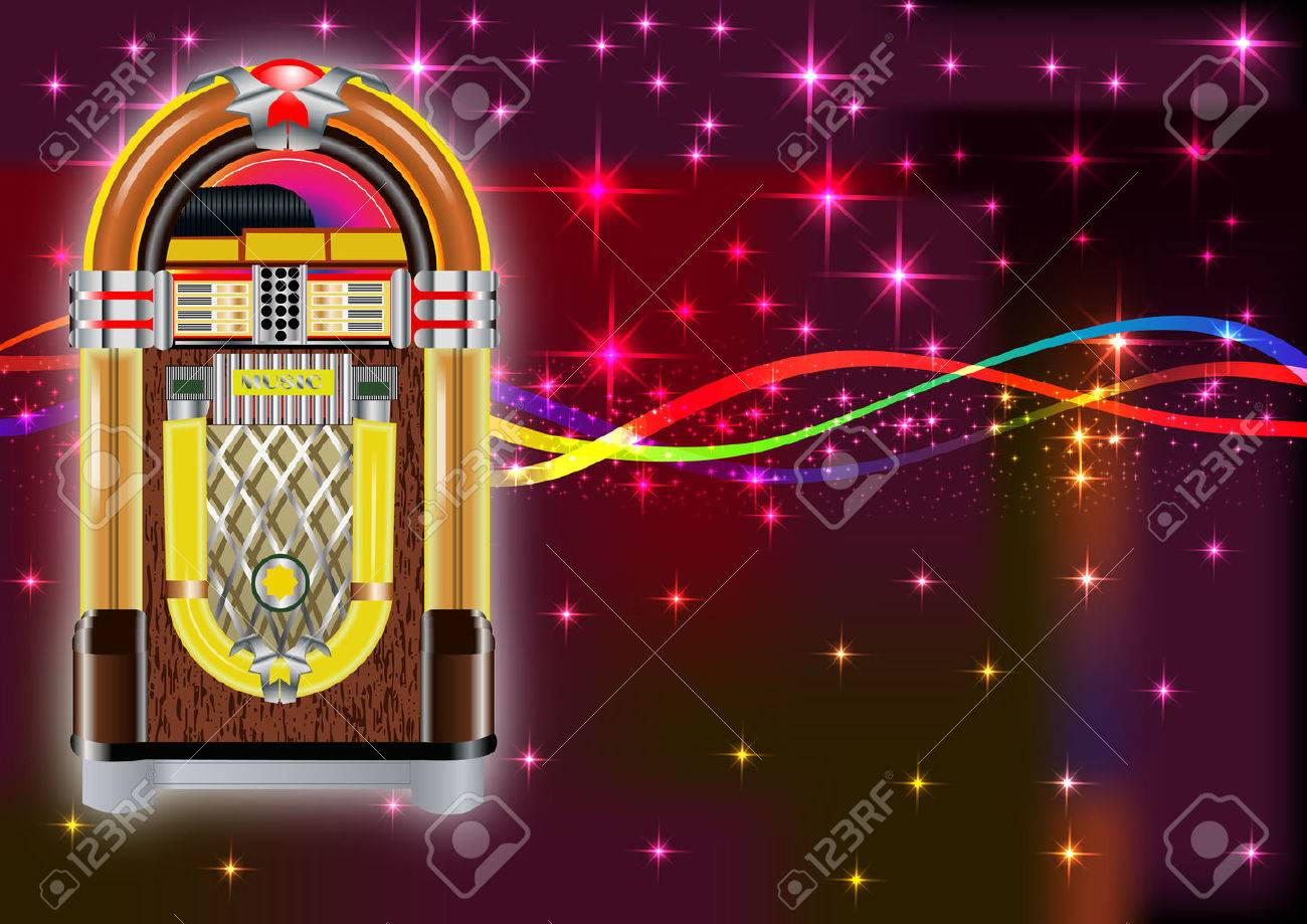 Jukebox Background Royalty Cliparts Vectors And Stock 1300x919