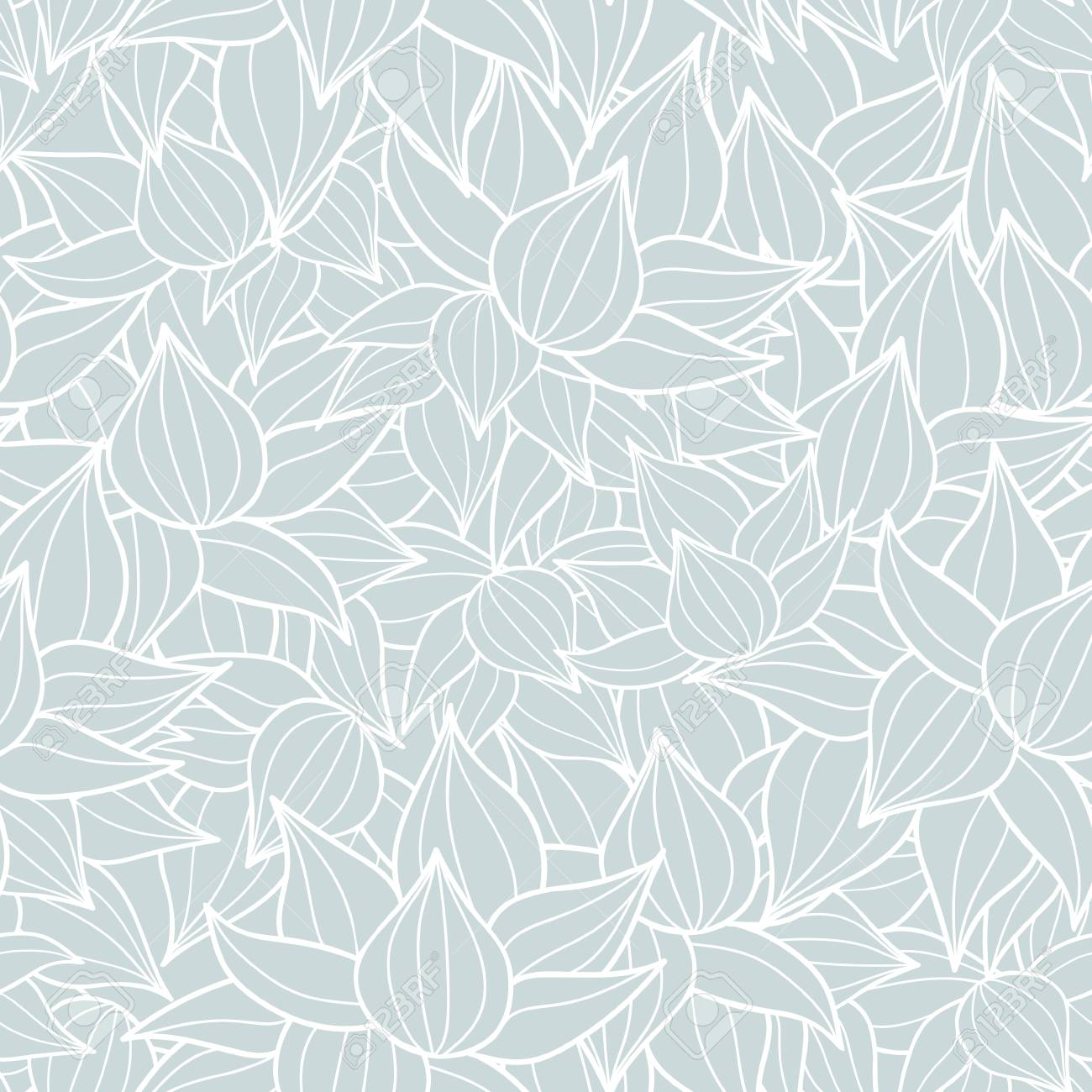 Vector Succulent Plant Texture Drawing Seamless Pattern Background 1300x1300