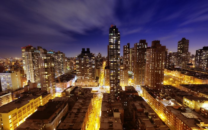 New York skyscrapers at night   Full HD and Widescreen Wallpapers 700x437