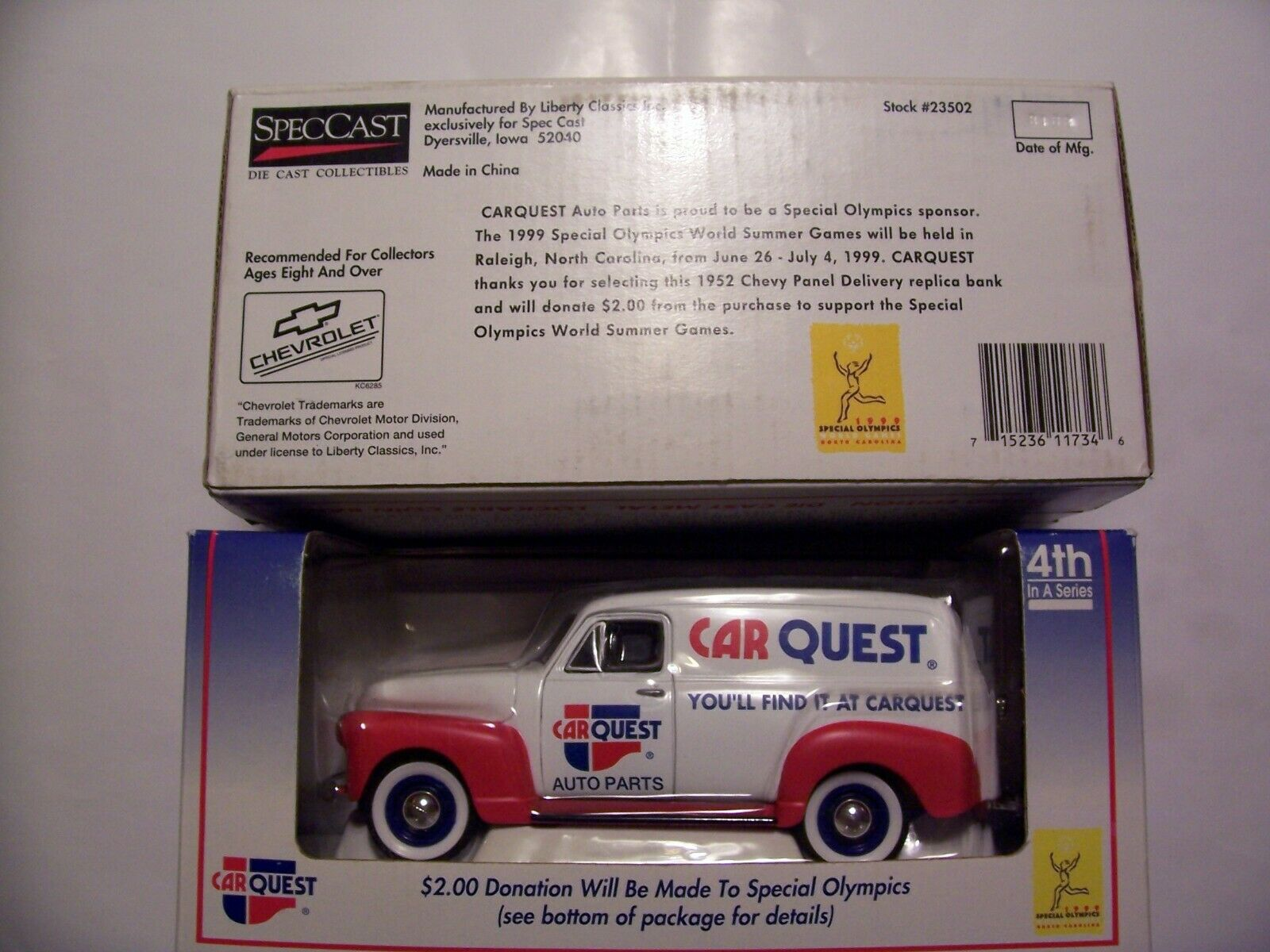 Liberty Classics SpecCast 1952 Car Quest Chevy Panel Delivery 4th 1600x1200