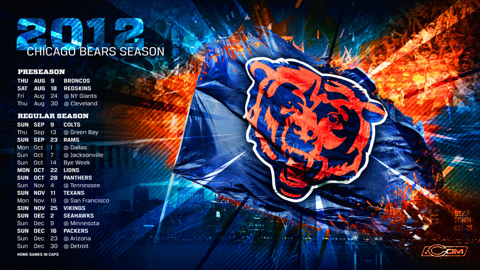 chicago bears wallpaper 1920x1080 wallpapersafari