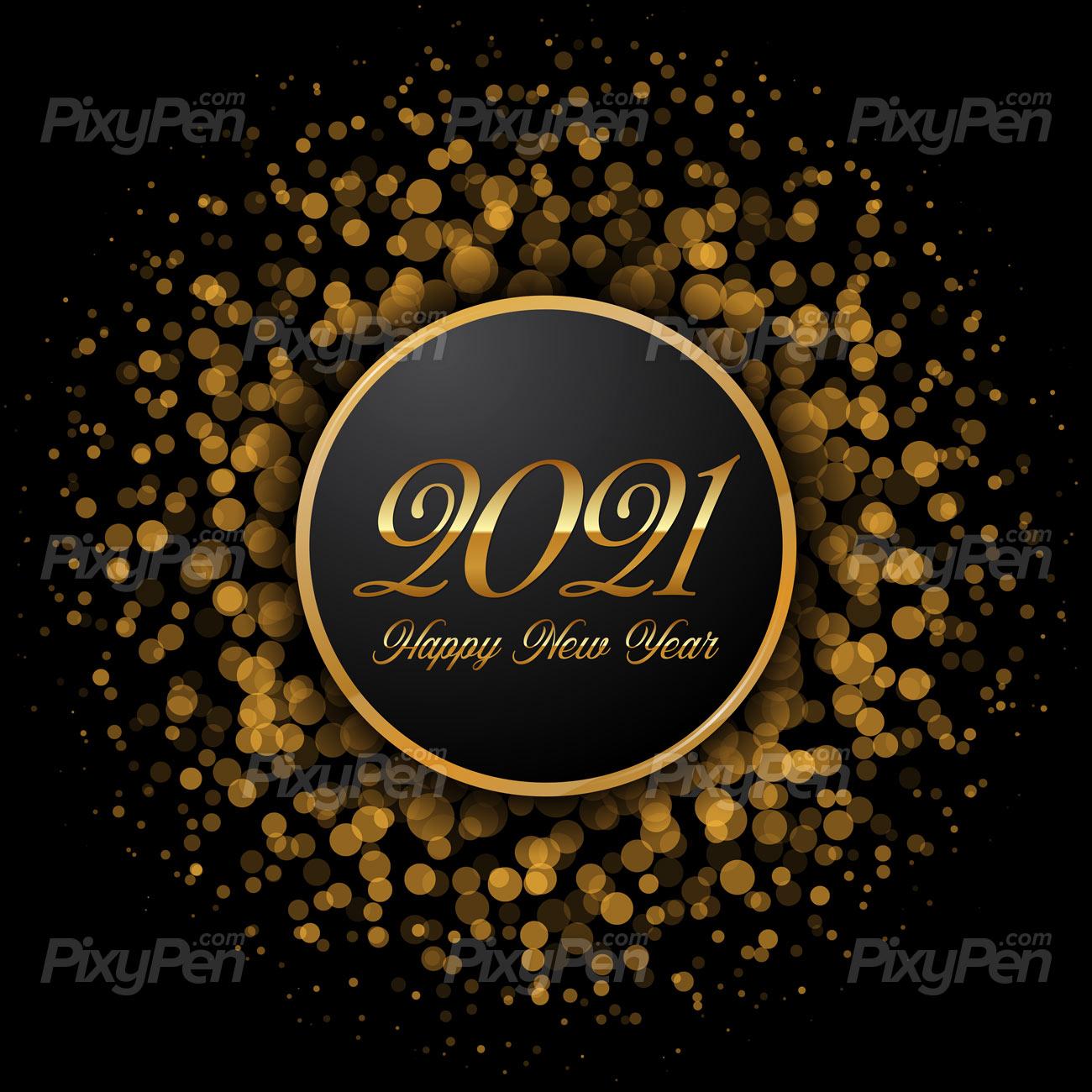happy new year 2021 wallpaper   Vector background PixyPen 1300x1300