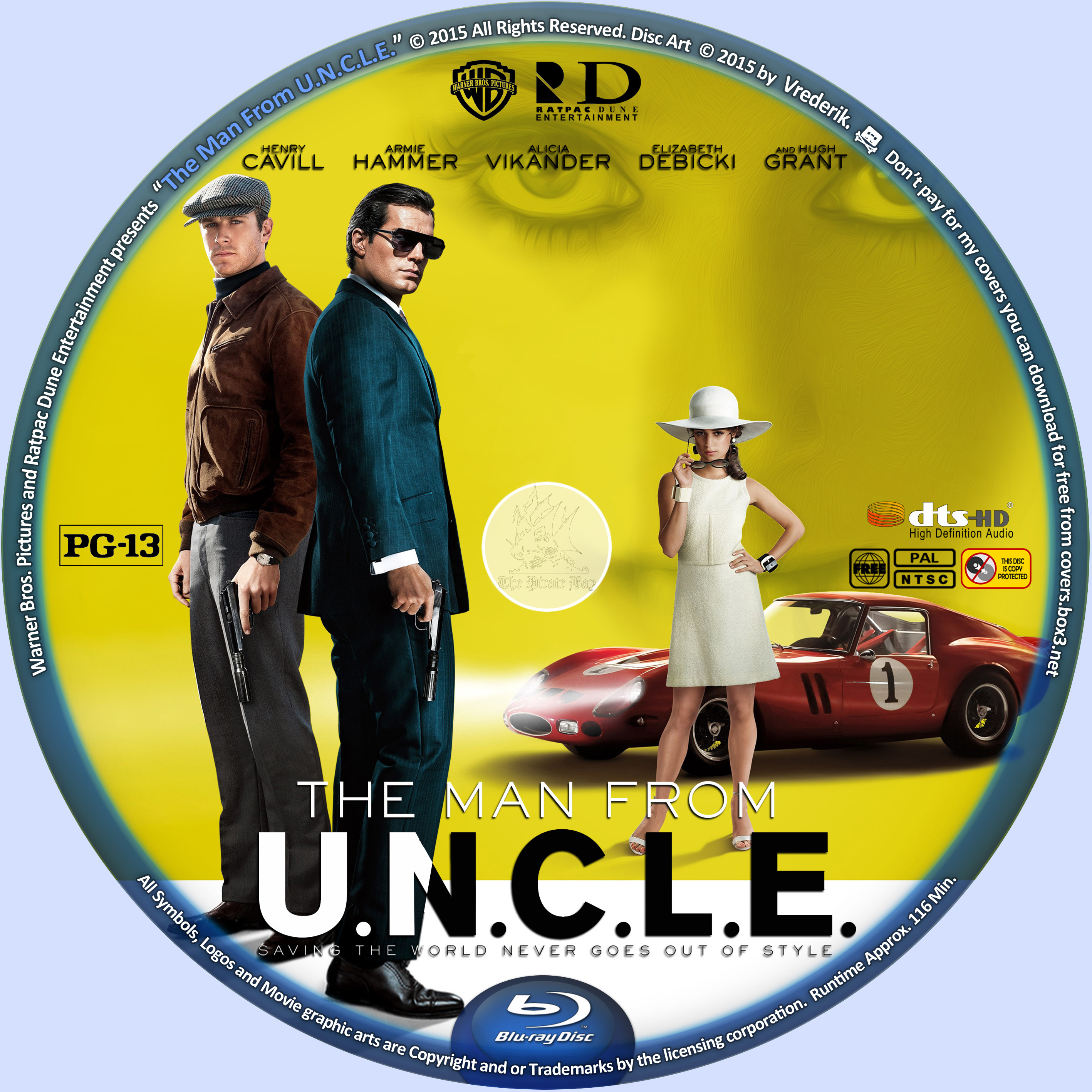 COVERSBOXSK The Man From UNCLE 2015 Blu ray 2835x2835
