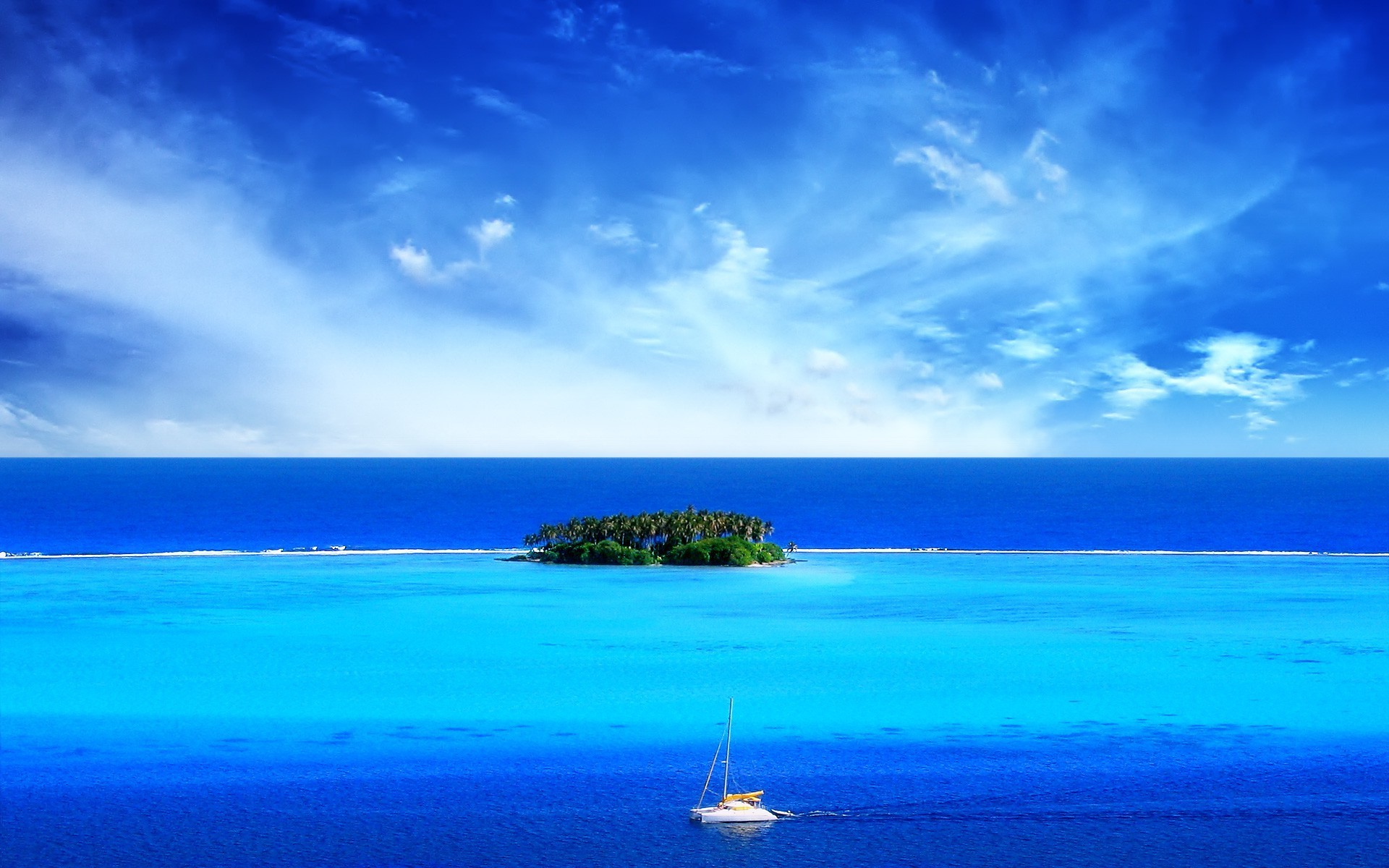 Sailing around the tropical island wallpaper   1034041 1920x1200
