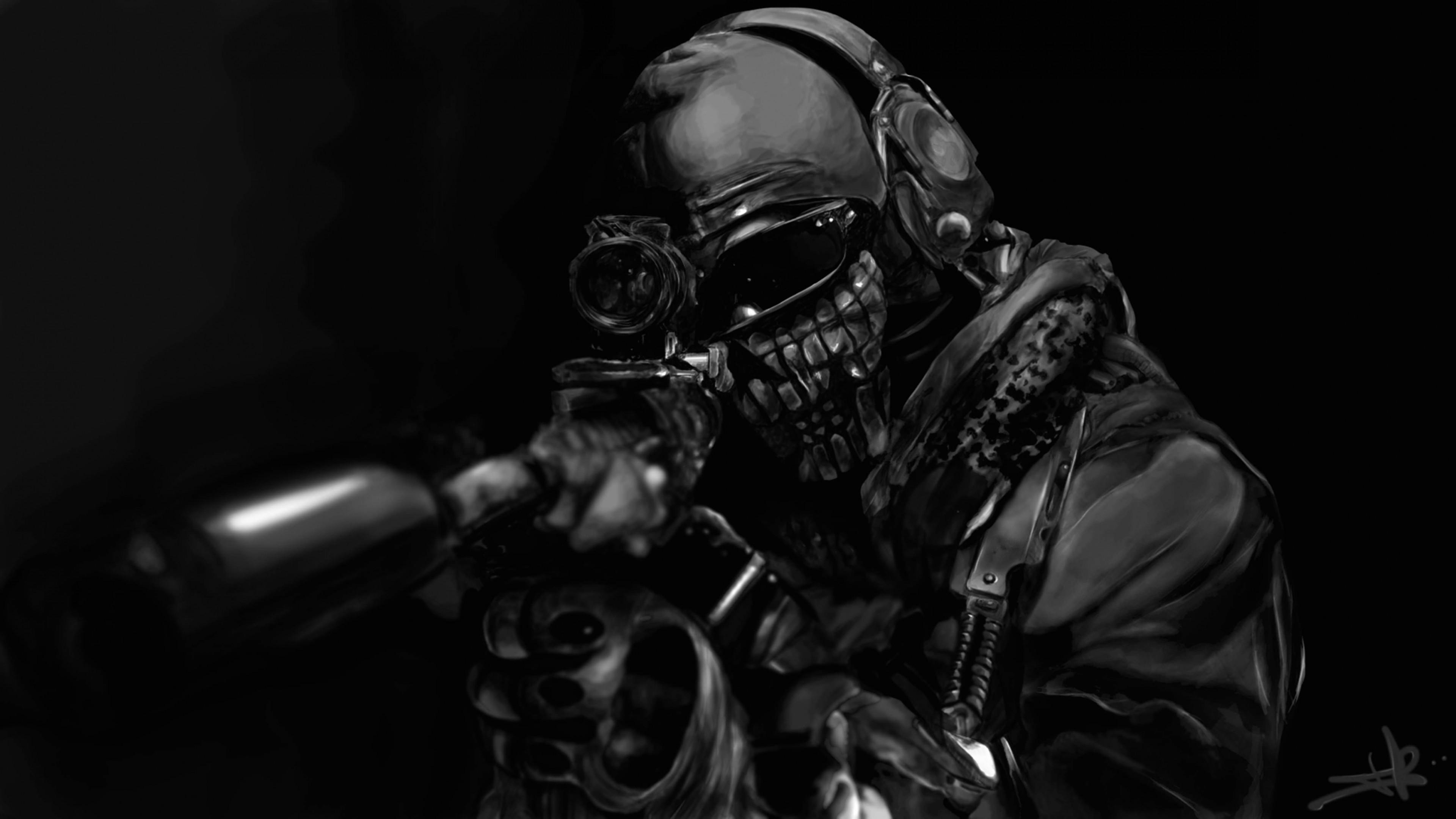 Free Download Call Of Duty Ghost Masked Warrior Wallpaper For Desktop 4k 3840 X 2160 3840x2160 For Your Desktop Mobile Tablet Explore 26 Alienware Wallpaper 3840 X 2160 4k