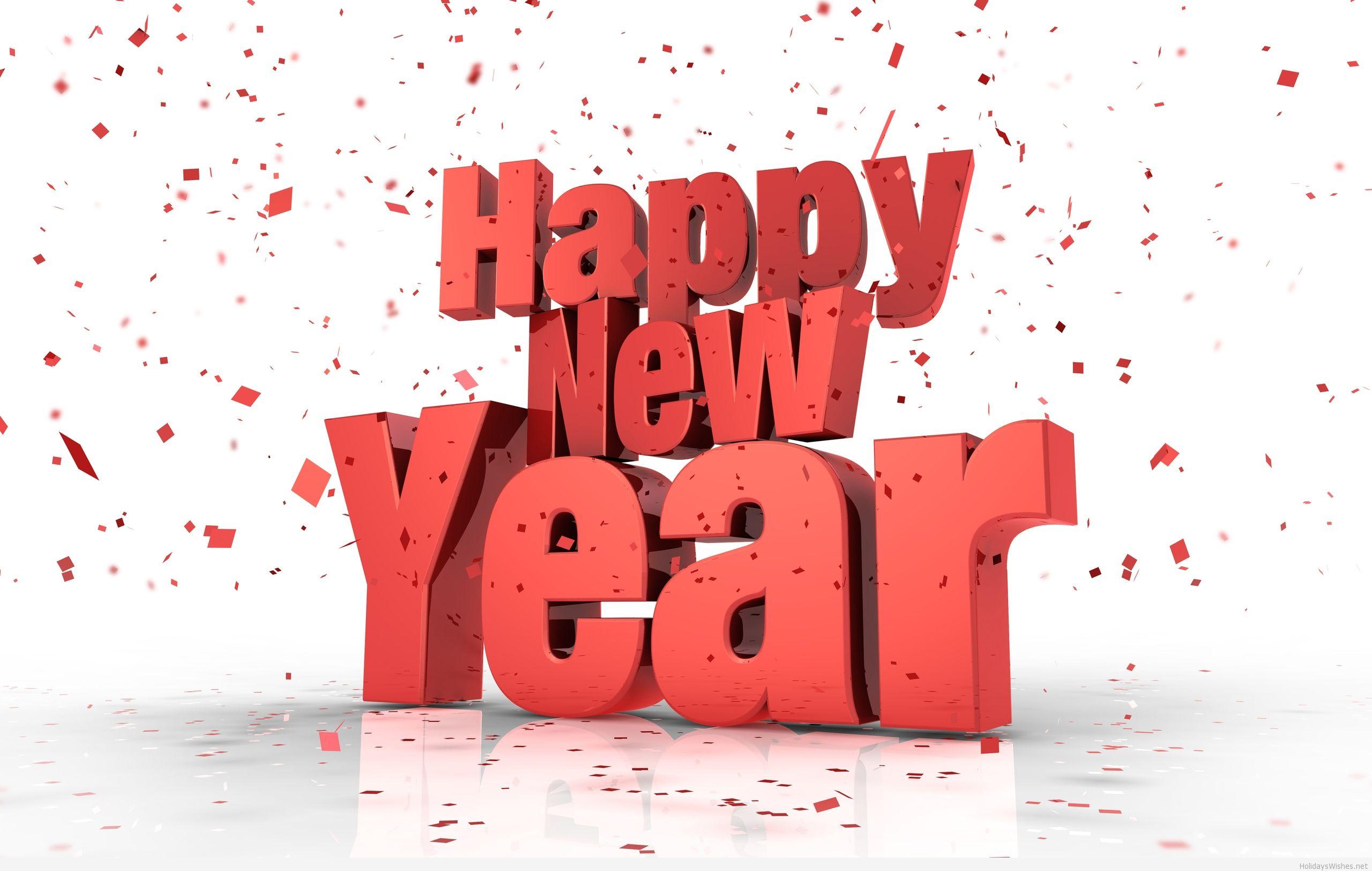 Happy new year 2015 3d wallpaper 2560x1625