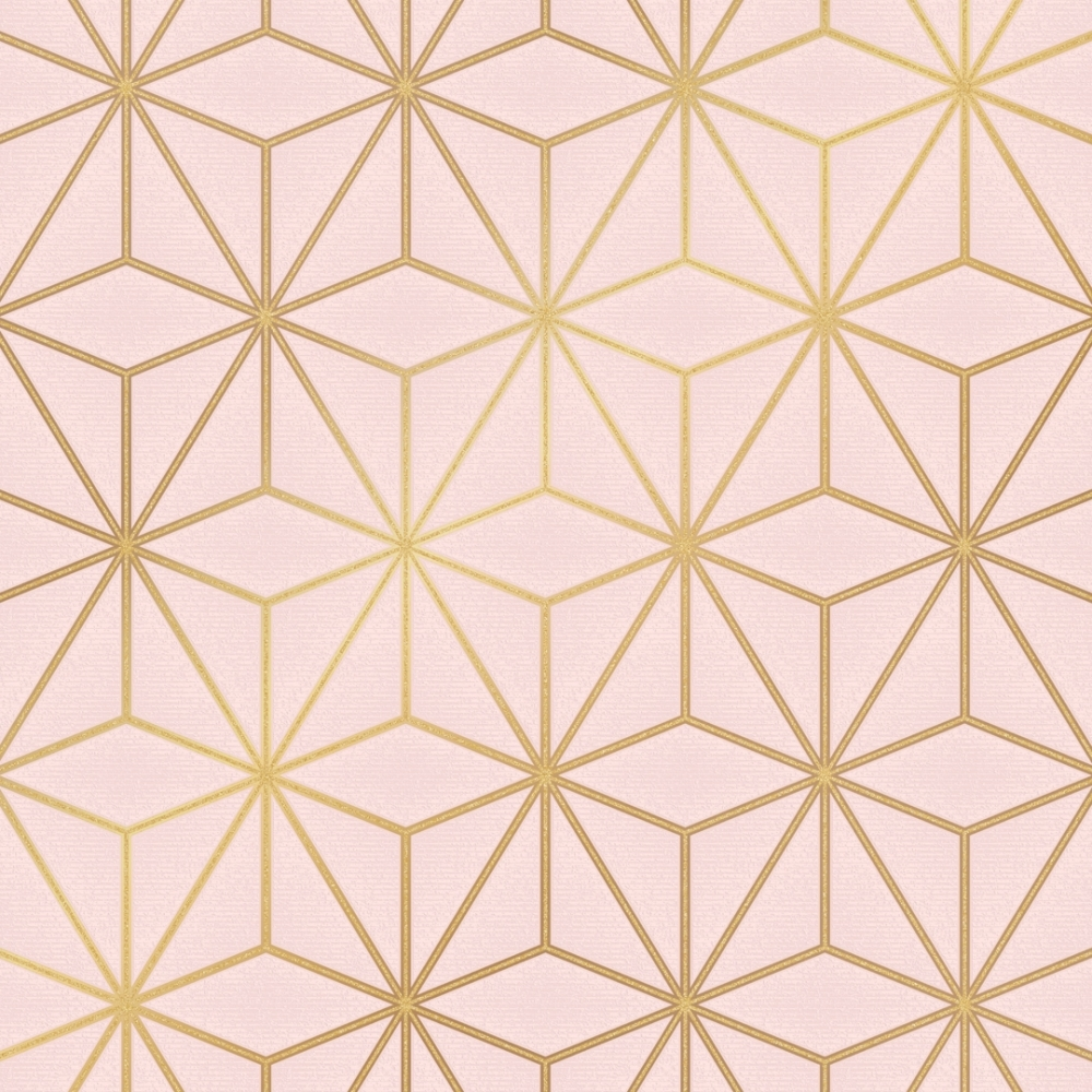 I Love Wallpaper Astral Metallic Wallpaper Blush Pink   Geodesic 1000x1000