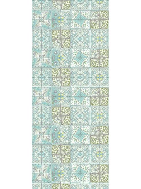 Patchwork Jade Paper Tiles Wallpaper 490x655