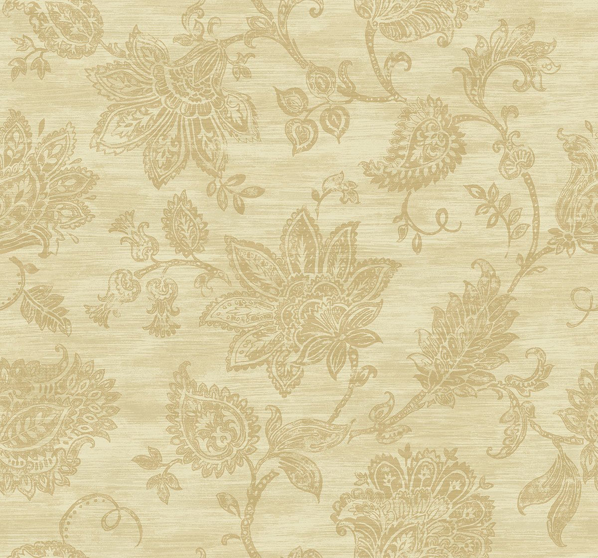 Stamped Jacobean Wallpaper in Rust from the Nouveau Collection by 1200x1120