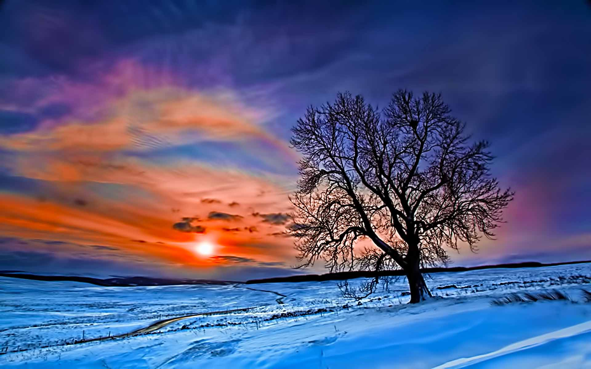 winter sunrise desktop wallpaper wallpapersafari