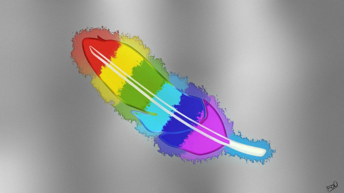 Rainbow Feather   UHD Wallpaper by FanosSs 1192x670